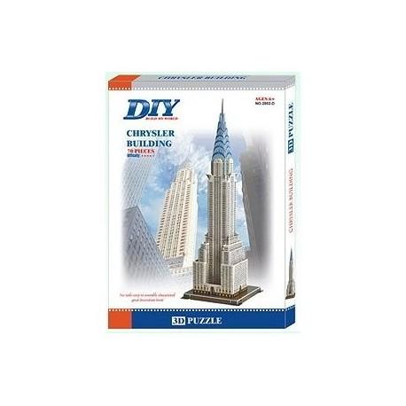 USA Chrysler Building 3D- Educational Puzzle Model