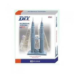 Petronas Towers 3D Пъзел