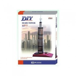 Sears Tower Chicago Building 3д пъзел Model 3D - Educational Puzzle