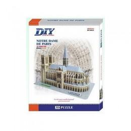 France Notre Dame De Paris Model 3D - Educational Puzzle