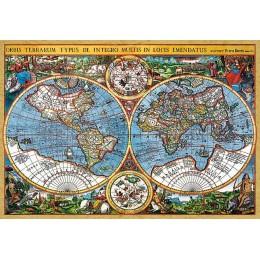 Пъзел - World Map, 1607, Pieter van der Keere