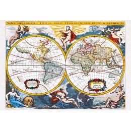 "Пъзел - ""World map"", early 18th century, Pieter Vander"