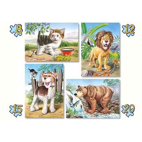 Четири пъзела: Животни