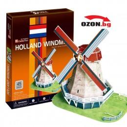 Триизмерен 3D пъзел Holland Windmill